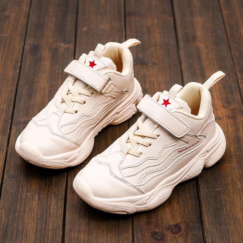 Yeni çocuk moda Sneakers rahat bebek eğitmenler çocuk okul spor ayakkabılar yumuşak koşu ayakkabıları