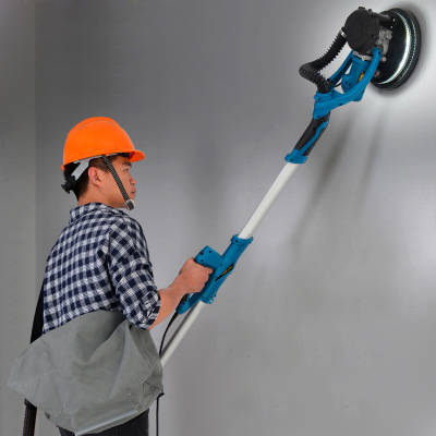 Dustless Electric Wall Putty Polisher Machine With Light Handheld 220V For Home Decoration