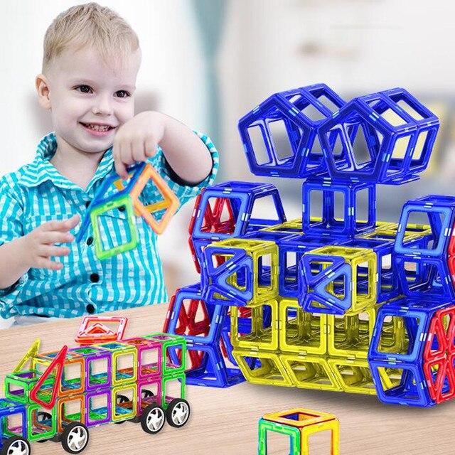 232Pcs Big Size Magnetic Construction toys Designer Magnetic Building Blocks Toys Constructor Brick For Kid Children