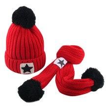 Hat Baby newborn photography propsGirl Boy Winter Crochet Knit Hat Acrylic fiber Beanie Hairball Cap Scarf Set czapki dla dzieci beatrix podolska rytmika dla dzieci