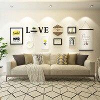 Multi Use Photo Frame Large Irregular Picture Frame Hanging Clock Decorative Paintings Love Shelf Favorite Wall Decor 3D Wood Fr