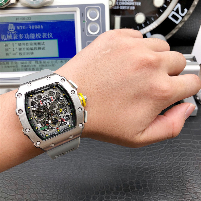 Richard Mille Design Limitde edition automatic mechanical watch Mens watch top luxury brand wristwatch Silicone strap clock gift