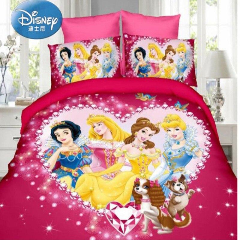 Disney Cinderella Bella Princess Rapunzel Girls Babies Bedding Set Kids Twin Full Duvet Cover Pillowcase for Children Gift