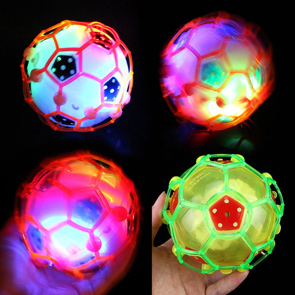 1pc Children Crazy Led Light Electric Dance Music Football Bouncy Ball Toys Luminous Football Toy