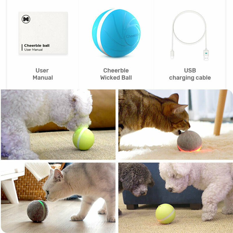 Pet Dog Jumping Activation Ball LED Light Flashing Bouncing Ball Puppy Toy