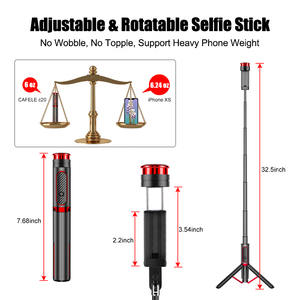 Image 2 - Cafele Wireless Bluetooth Selfie Stick For Huawei iPhone Xiaomi Extendable Foldable Monopod For Phone Camera Remote Control