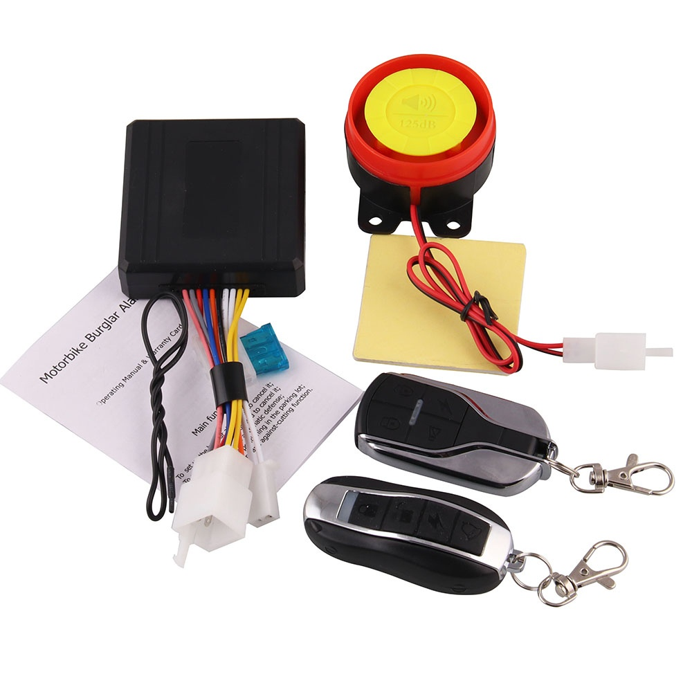 80M Car Motorcycle Anti-theft Alarm 12V Universal Remote Control Auto Security Alarm Protection System For Scooter Motor Bike 9#