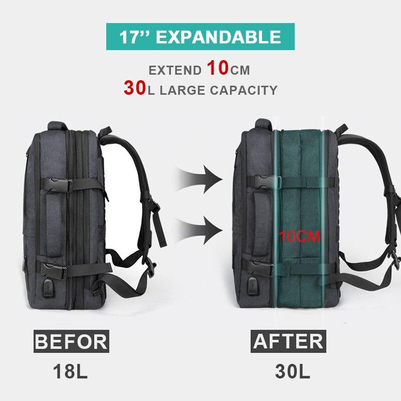 Image 2 - Anti Theft Backpack 17 Inch Laptop Men Bagpack Travel Waterproof  Large Capacity Back Pack Women Male Black Backpacks USB  ChargerBackpacks