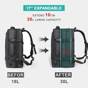 Image 2 - Anti Theft Backpack 17 Inch Laptop Men Bagpack Travel Waterproof Large Capacity Back Pack Women Male Black Backpacks USB Charger