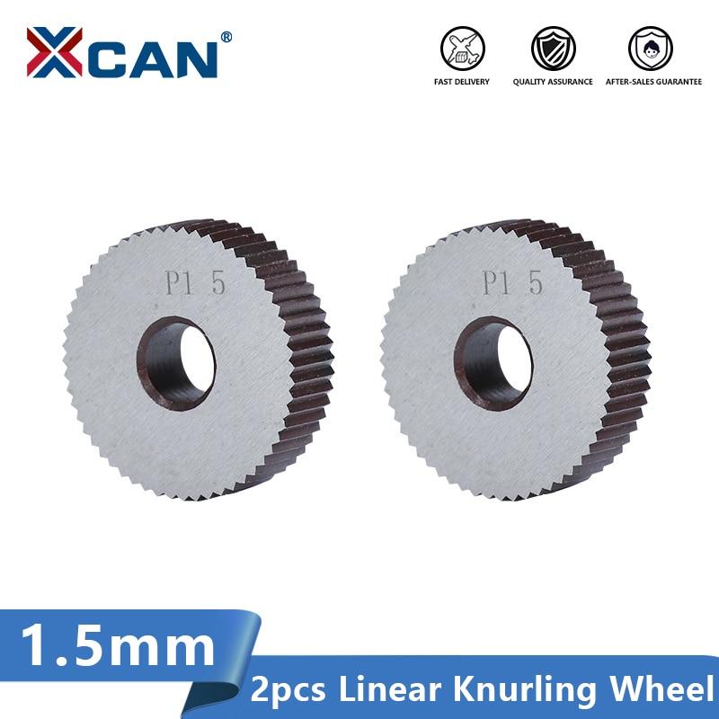 XCAN 2pcs 1.5mm HSS Anti Slip Single Straight Coarse Diameter 28mm for Metal Lathe Wheel Lathe Knurling Tools
