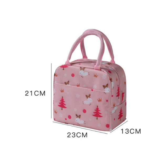 Portable Cooler Bag Ice Pack Lunch Box Insulation Package Insulated Thermal Food Picnic Bags Pouch For Women Girl Kids Children 2