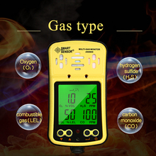 Gas Detector CO H2S O2 LEL Combustible Gas Leak Detector Oxygen Carbon Monoxide Hydrogen Sulfide Gas Analyzer 3 Alarm Methods muiti gas analyzer combustible carbon monoxide co oxygen o2 h2s gas leak detector professional toxic harmful gas monitor