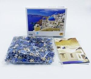 Image 3 - 1000 pezzi Mini Puzzle per adulti e bambini semplice sfida giocattoli gioco di decompressione del paesaggio (dimensioni 42x30cm)