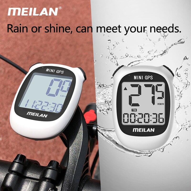 Купить с кэшбэком meilan M3 Bike GPS Computer Wireless LCD Display Speedometer Cycling Computer  Odometer Waterproof USB rechargeable