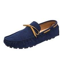 Лоферы мужские из натуральной кожи, мягкие кроссовки, без застежки, удобная обувь для вождения, большой размер 48, весна 2021