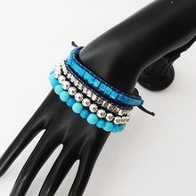 Новый дизайн лакомство синий серебряный; Цвет Натуральный камень