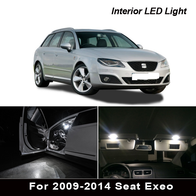 17x led tronco lâmpada + interior cúpula luzes kit completo para assento acessórios para 2009-2014 exeo para exeo st