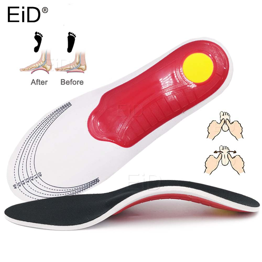 Orthotic Insole EVA Flatfoot Arch Support Gel Orthopedic Insoles Ease The Pressure Damping Cushion Padding Insole For Man Women
