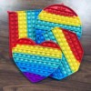 Rainbow Push Bubble Fidget Anti Stress Sensory Toy for Children Autisim Game Stress Relief Squishy Simple Dimple Fidget Toys