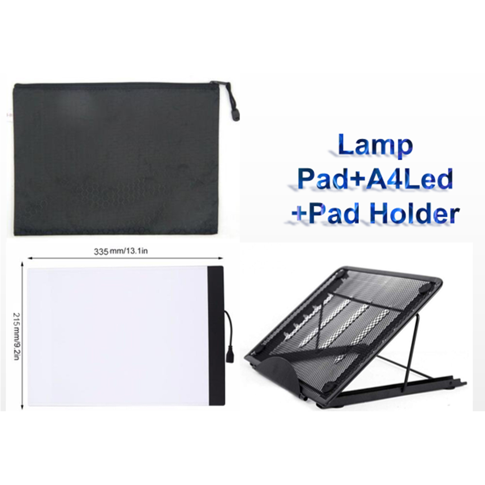 Diamond painting Lamp Pad and A4 Led and Pad Holder Thin Art Drawing Board Light Box Tracing Writing Portable Electronic Tablet