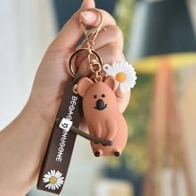 Fashion Stereo Cute Dinosaur Keychain Panda Koala Fox Multiple Animal Cartoon Mobile Phone Bag Fun Pendant Key ring