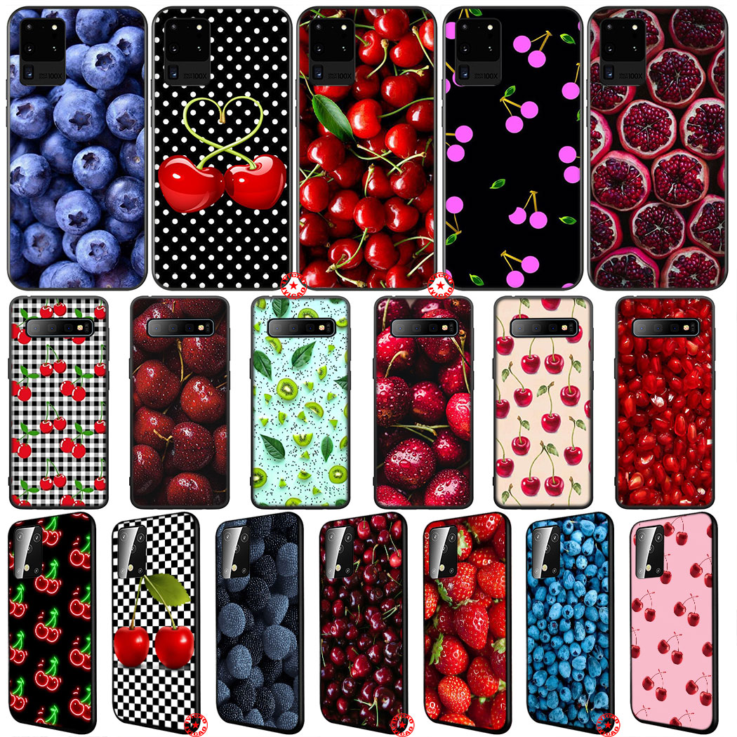 Y75 Summer Fruit Cherry Soft Silicone Case For Samsung Galaxy Note 10 S20 Ultra Plus Lite A01 A11 A21 A41 A51 A71 A81 A91