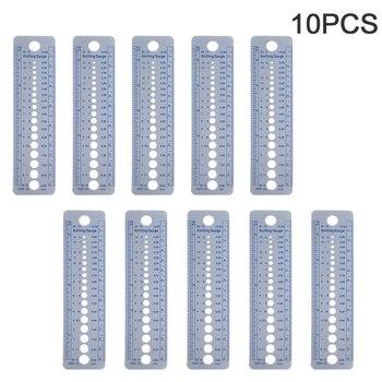 Bufanda de mano de medición multifunción Casa de plástico DIY tejer aguja para Jersey gobernante accesorios costura herramienta pulgadas Cm