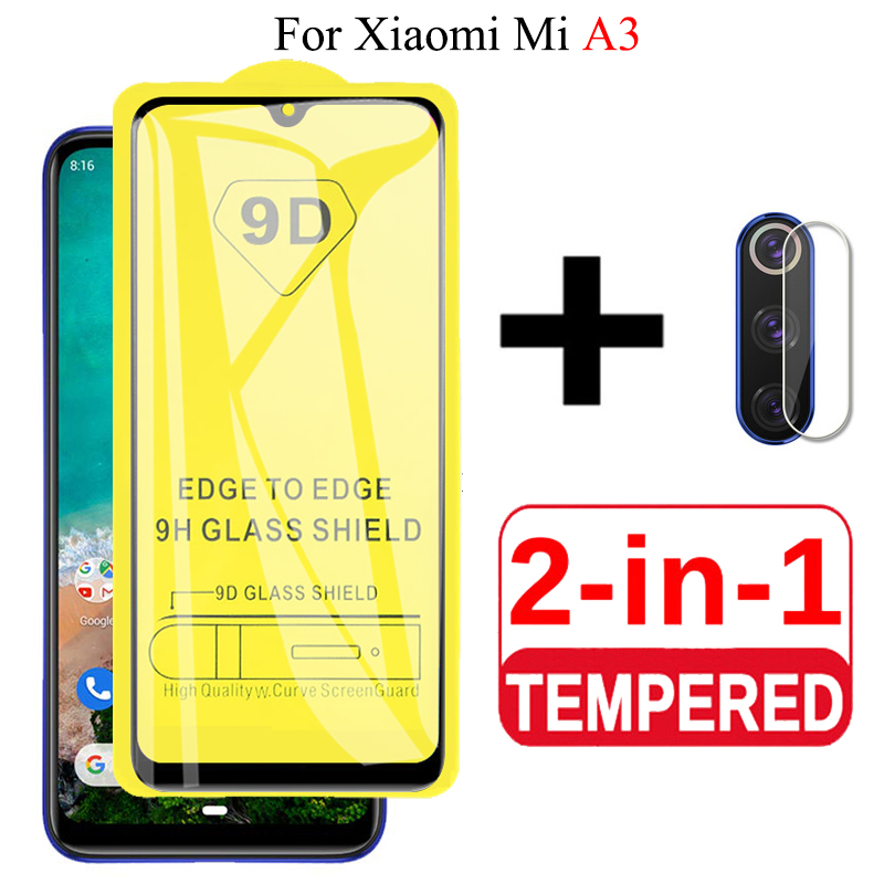 2 In 1 9D Glass For Xiaomi Mi A3 Protective Glass For Mi A3 Camera Lens Film Screen Protector Xiomi MiA3 XiaomiA3 Tempered Glas