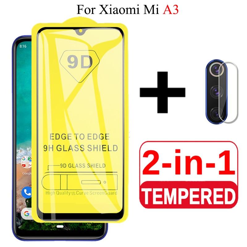 2 In 1 9D Glass For Xiaomi Mi A3 Protective Glass For Mi A3 Camera Lens Film Screen Protector Xiomi MiA3 XiaomiA3 Tempered Glas