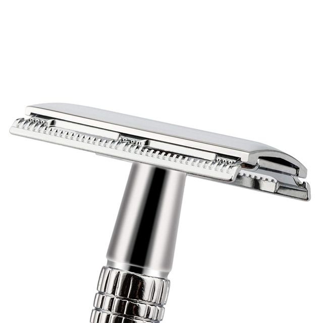 Double Edge Razor Wet Shaving For Men Women Classic 3-Piece Stainless Steel Safety Razor 2