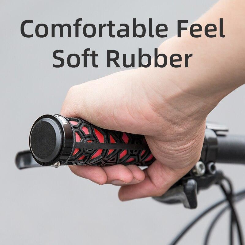 ROCKBROS велосипедные ручки резиновая заглушка на светильник ручки велосипеда Mtb складные грипы для ручки для велосипеда анти-скольжения руль велосипеда Запчасти