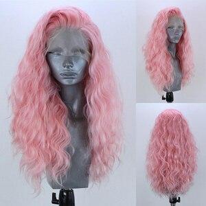 Image 4 - Charyzma #60 Platinum blond peruka z naturalną linią włosów syntetyczna koronka peruka front odporne na wysoką temperaturę Glueless czerwone peruki dla kobiet