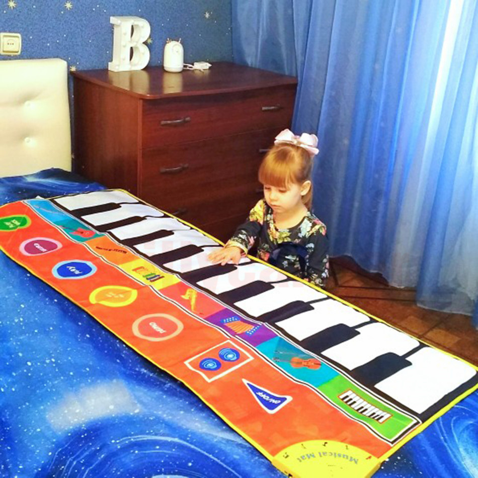 Hc8f7b6d0b9a846be93ae378df1ee7b8cq Large Size Musical Mat Baby Play Piano Mat Keyboard Toy Music Instrument Game Carpet Music Toys Educational Toys for Kid Gifts