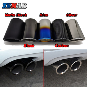 2pcs Car Exhaust Tip Muffler Pipe Cover For Audi A3 8V 8P A4 B8 A1 Q5 A5 VW Tiguan Volkswagen Passat B7 CC Auto Accessories