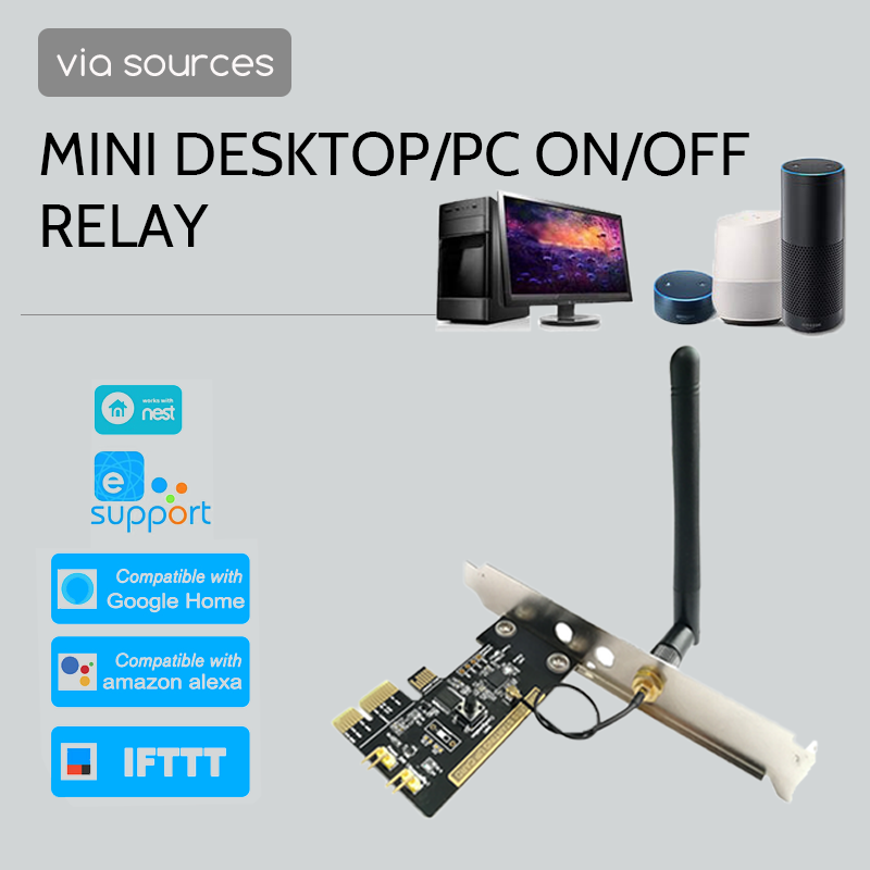 Ewelink PCI-e Desktop PC Switch Controller Wifi Switch Card Mini Controller Diy Smart Wifi Switch Smart Home Kit Restart Relay