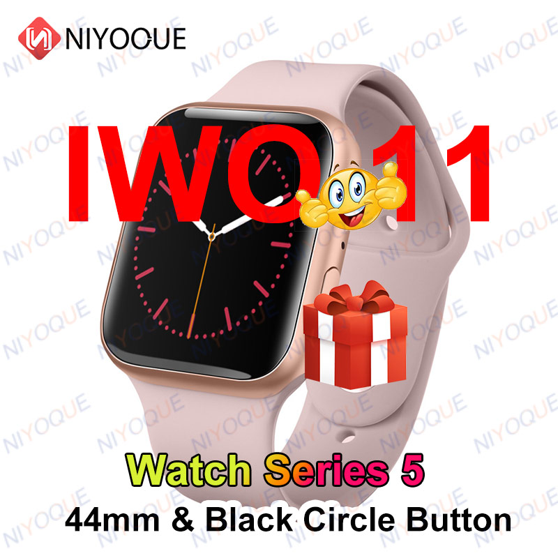 Bluetooth Smart Watch iwo 11 I7 1:1 Watch Series 5 SmartWatch 44mm Case For IOS Android Phone With Heart Rate ECG Pedometer image
