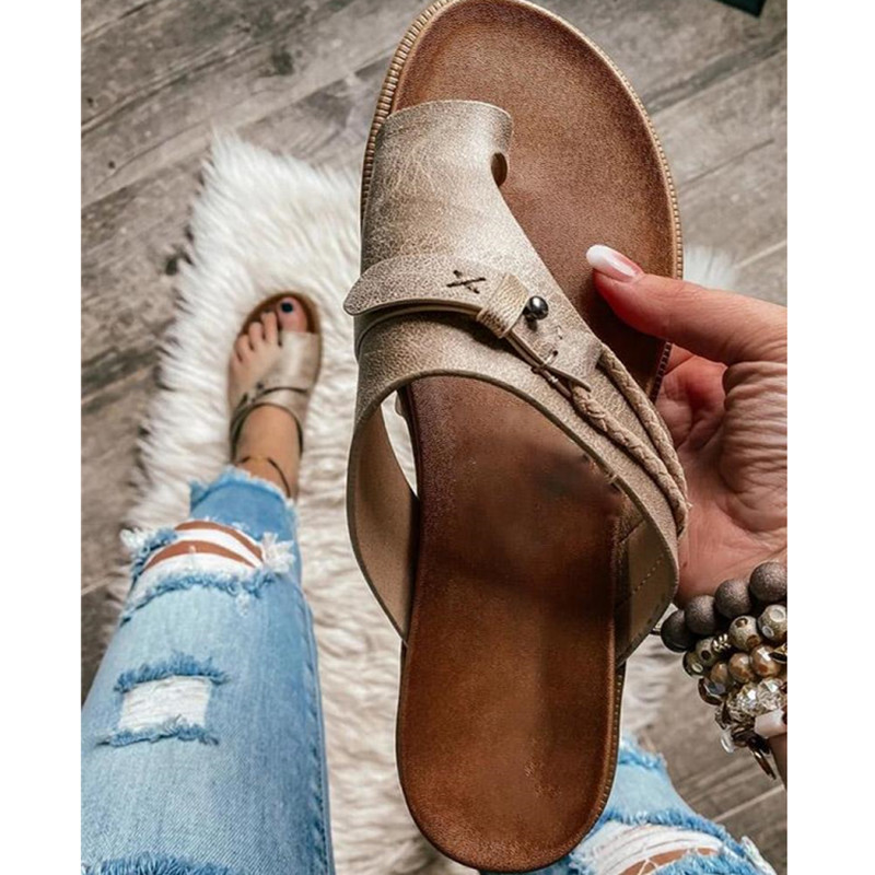 Summer Women Slippers Ladies Solid Beach Casual Shoes Female Retro Flip-Flops Slippers Non-Slip Chaussure Sandals Femme Slides