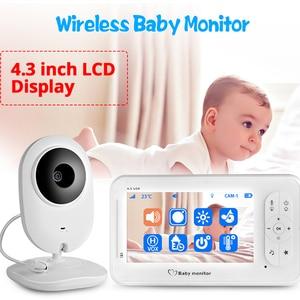 Image 1 - 4.3 אינץ אלחוטי צבע תינוק צג אודיו וידאו תינוק מצלמה ווקי טוקי טמפרטורת צג אבטחת המצלמה IR ראיית לילה