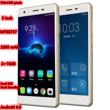5 Inch S07 3G/4G Smart mobile phones Dual SIM Cards 2GB+16GB Android 6.0 MTK6737Quad-Core 720x1280 pixels Capacitive screen