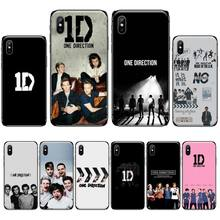 цена singer One Direction band Soft Silicone Black Phone Case For iphone 4 4s 5 5s 5c se 6 6s 7 8 plus x xs xr 11 pro max онлайн в 2017 году