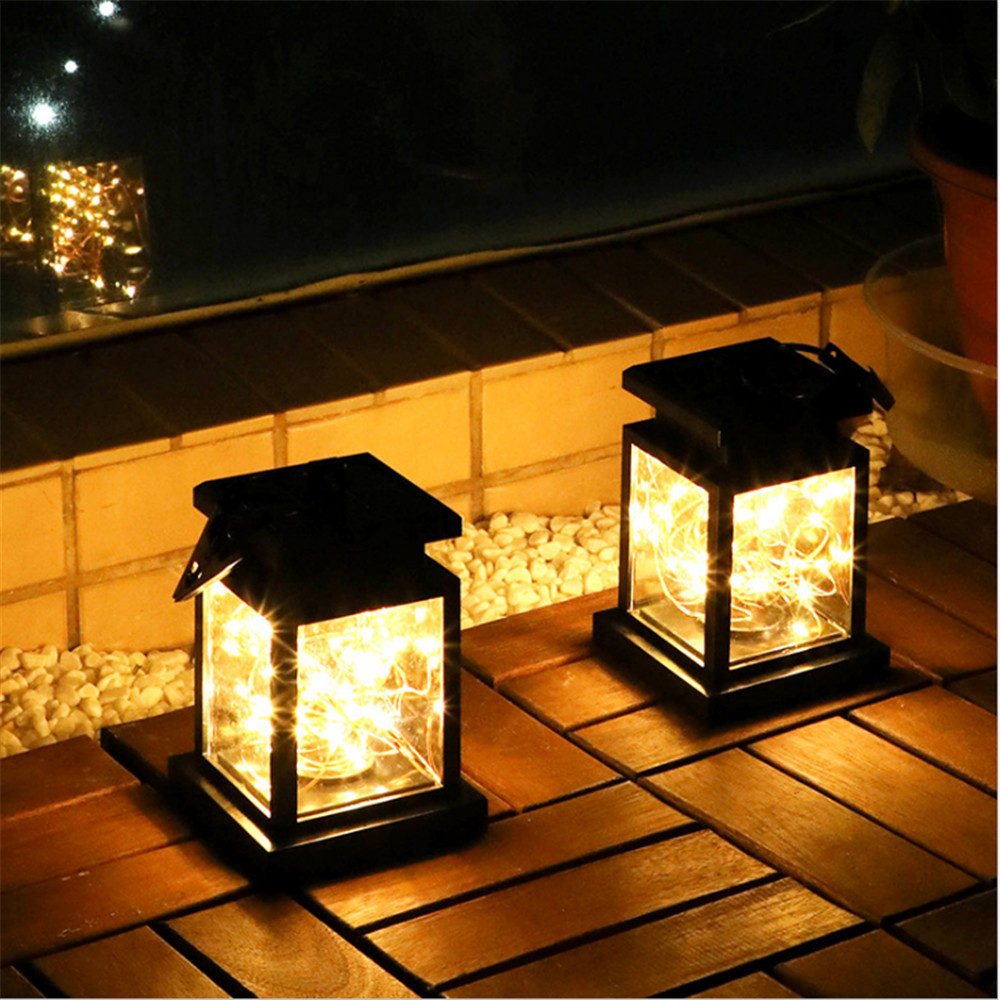 30LED Solar Light Copper Wire Stars Hang Light Outdoor IP65 Atmosphere Chandelier Candle Lamp Decora Holiday Dinner Garden Light