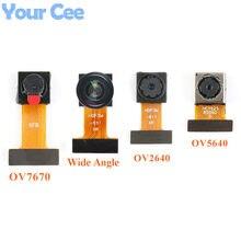 Ov2640 ov7670 OV5640-AF mini módulo de câmera cmos sensor imagem módulo 2 milhões pixel grande angular câmera monitor identificação