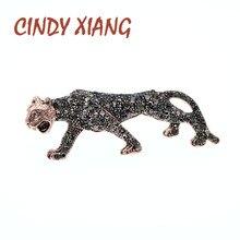 цена на CINDY XIANG Rhinestone Leopard Brooches For Women Animal Design Fashion Brooch Wild Animal Brooch High Quality New Arrival