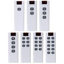 Transmisor de control remoto Digital de código de aprendizaje inalámbrico Universal, 3/4/6/8/10 canales, botones, AK 7010TX de teclado