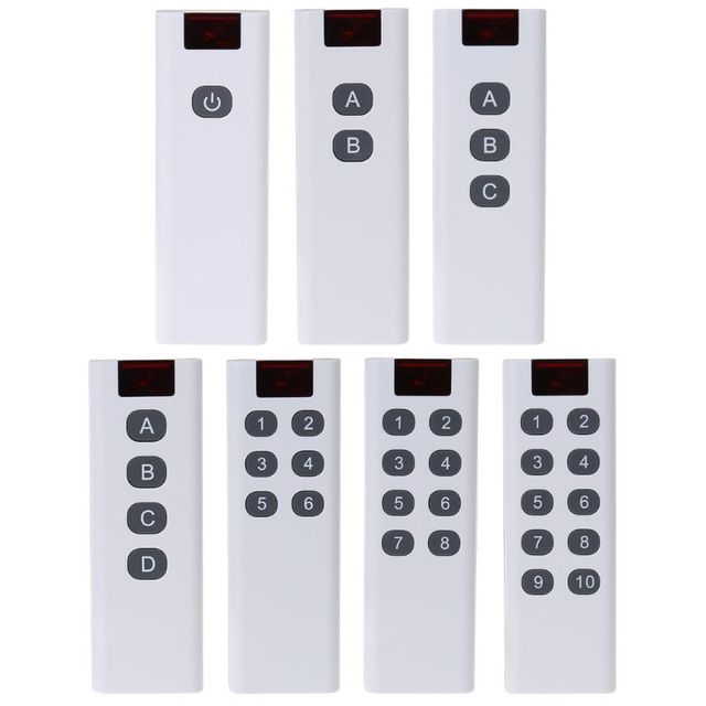 Universal Wireless Learning Code Digital Remote Controller Transmitter 3/4/6/8/10 Channels Buttons Keypad AK 7010TX