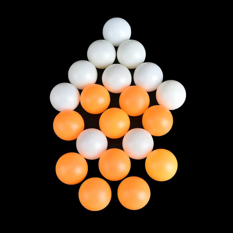 10 unids/lote accesorios de entrenamiento de competición Amarillo Blanco profesional pelota de tenis de mesa pelotas de Ping Pong 40mm de diámetro