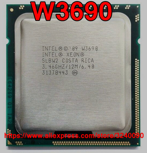 Original Intel Xeon W3690 3.4 GHz Six-Core Twelve-Thread CPU Processor 12M 130W LGA 1366 free shipping speedy ship out