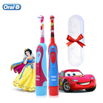 Oral B Electric Toothbrush for Children 2 Min Timer Soft Bristle 2D Rotating Clean Replaceable Head AA Battery Kid Tooth Brush - discount item  48% OFF Personal Care Appliances
