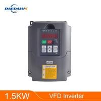 1.5KW Inverter Converter 110V 220V VFD Inverter Single Phase Input Triple Output For CNC Spindle Motor 1.5KW 2.2KW Milling Motor