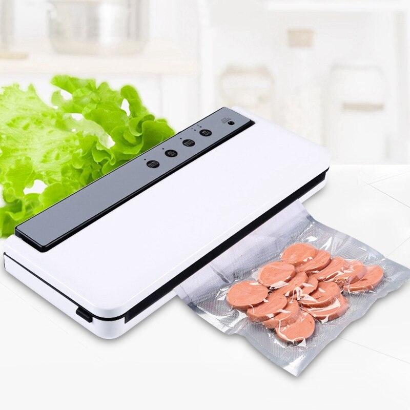 Vacuum Sealing Machine Home Best Vacuum Sealer Fresh Packaging Machine Food Saver Vacuum Packer Include 10Pcs Bags EU Plug|Vacuum Food Sealers| |  -